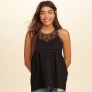 Hollister embroidered tank top